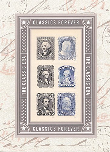 The Classic ERA - George Washington, Benjamin Franklin, Abraham Lincoln Souvenir Sheet of 6 Self-Adhesive Collectible USPS Forever Postage Stamps by USPS ()