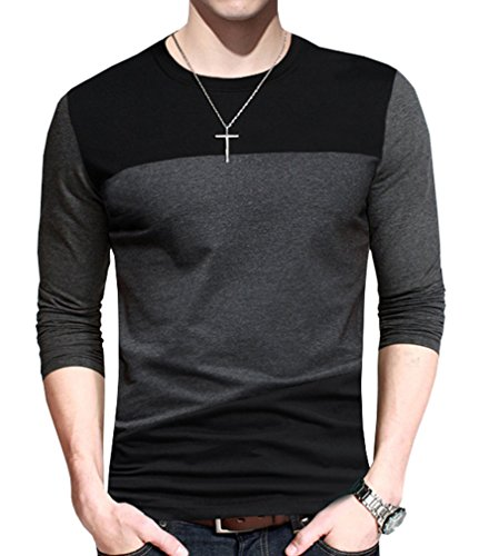Nature Lovers Mens Long Sleeve T-Shirt Casual Tops Tee Classic Fit Basic Shirts C8043 Black Asian 4XL/US L - Classic Fit Tee