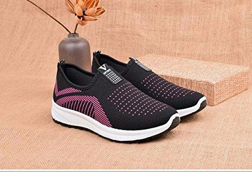 black Beijing Ocio Old Zapatos Solo Y Mamá La Primavera Zapatos De Mujeres Media Fondo Los Mujer Antideslizante Fondo Vejez Zapatos Zapatos De GTVERNH Plano Suave Deportes 54wdqR5