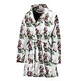 Simply Cool Trends Afghan Hound Dog Pattern Print Women's Bath Robe