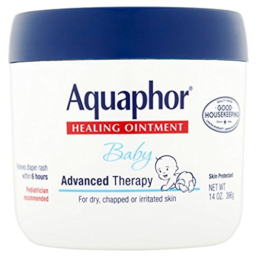 Aquaphor Baby Healing Ointment Diaper Rash and Dry Skin Protectant , 14 Fl. Oz. Jar - 0.1% Ointment