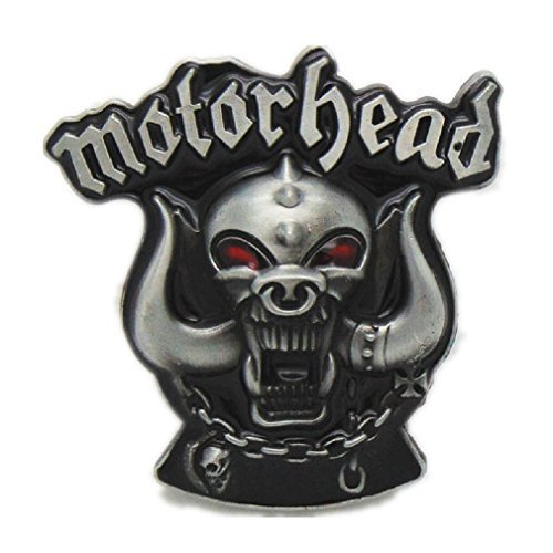 (Cool Motor head Monster Skull Horns Belt Buckle Gothic Motorcycle Gear Head Punk)