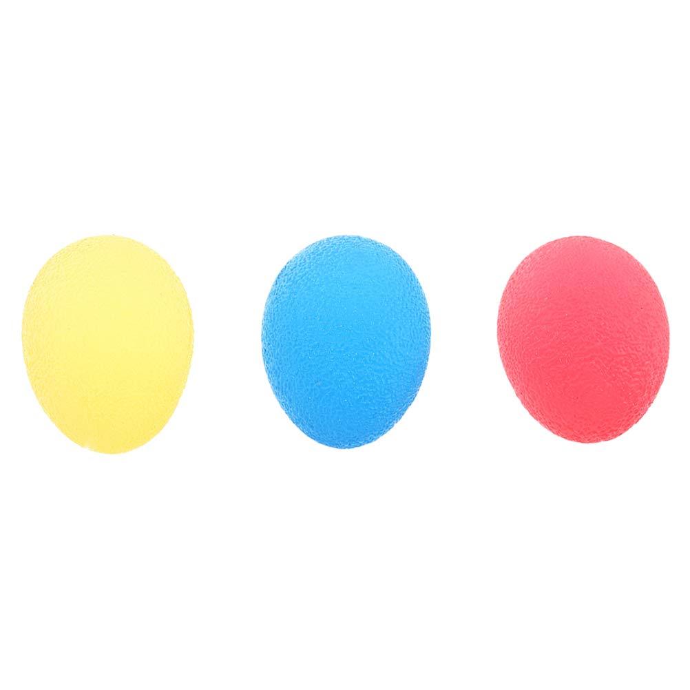 Clispeed 3PCS Silicone Grip Balls mano terapia formazione Esercizio palle carpale tunnel corsa attrezzature di riabilitazione (colore casuale)