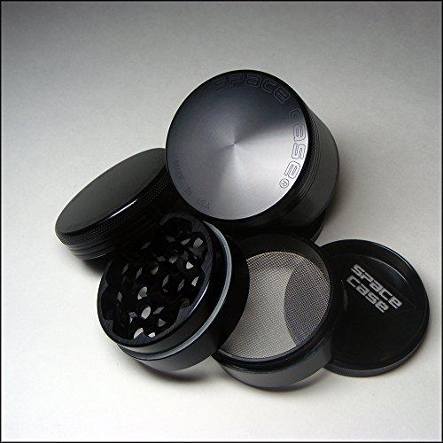 Space Case Grinder Small Titanium 4 Pc W/ Custom Pick