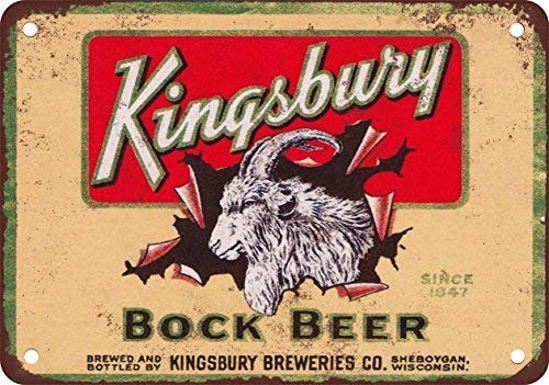 Kingsbury Bock Beer Vintage Look Reproduction Metal Tin Signs Decoration for Home Bar Garage Store Yard Office Sign