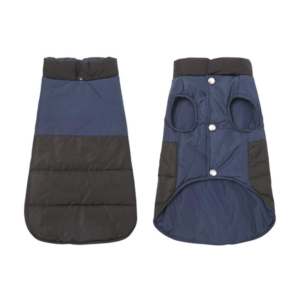 bluee M bluee M BIZAR Dog Jacket Fashion Waterproof Two Sided Worn Winter Coat Windproof Outdoor Sport Dogs Vest