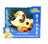 Ver-Baby Childrens Kids Build a Pet Pull-A-Long Musical Dog Car Construction Playset Includes Toy Tools Build and Play Toy Set