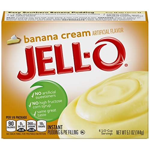 (Jell-O Banana Cream Instant Pudding Mix, 5.1 oz Box)