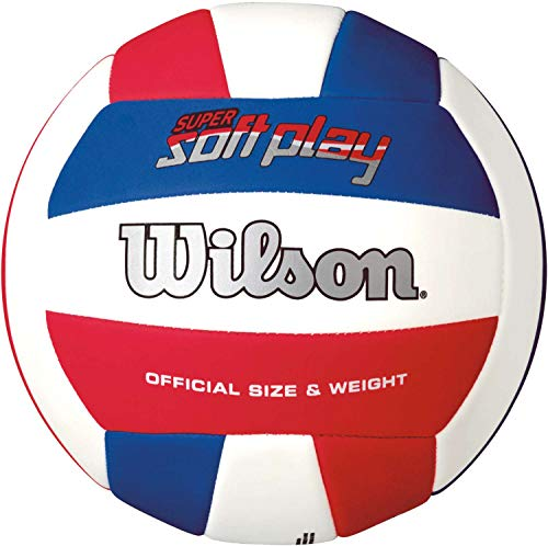 Wilson Super Soft Play Volleyball Red/White/Blue