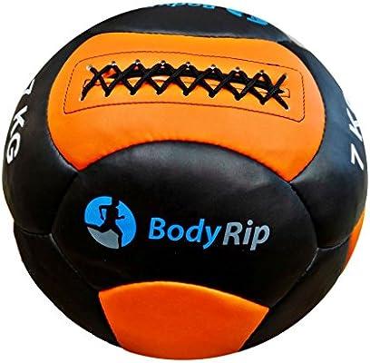 BodyRip 35,56 cm Cuero balones medicinales - Negro/Naranja, 3 kg ...