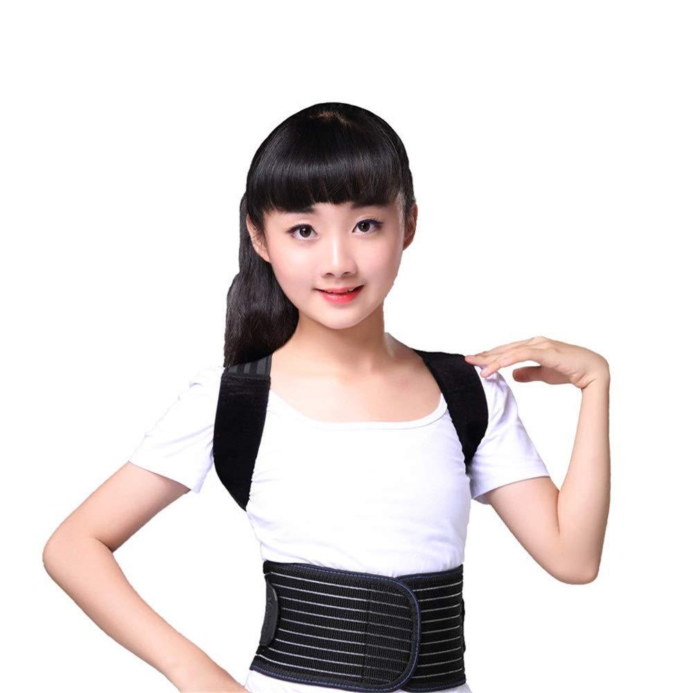 Corrector de postura Children Posture Corrector, Shape The Perfect Body Support Brace for Back Shoulder Neck Pain Relief Clavicle (Size : S48-62cm)