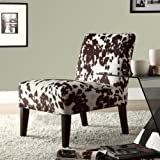 Home Creek Cow Hide Print Lounge Chair For Sale