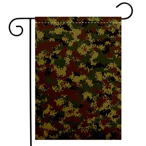 BEIVIVI Creative Home Garden Flag Camo Grunge Graphic Camouflage Summer Theme Armed Forces Uniform Inspired Dark Green Pale Green Brown Welcome House Flag for Patio Lawn Outdoor Home - Forces Uniforms Armed