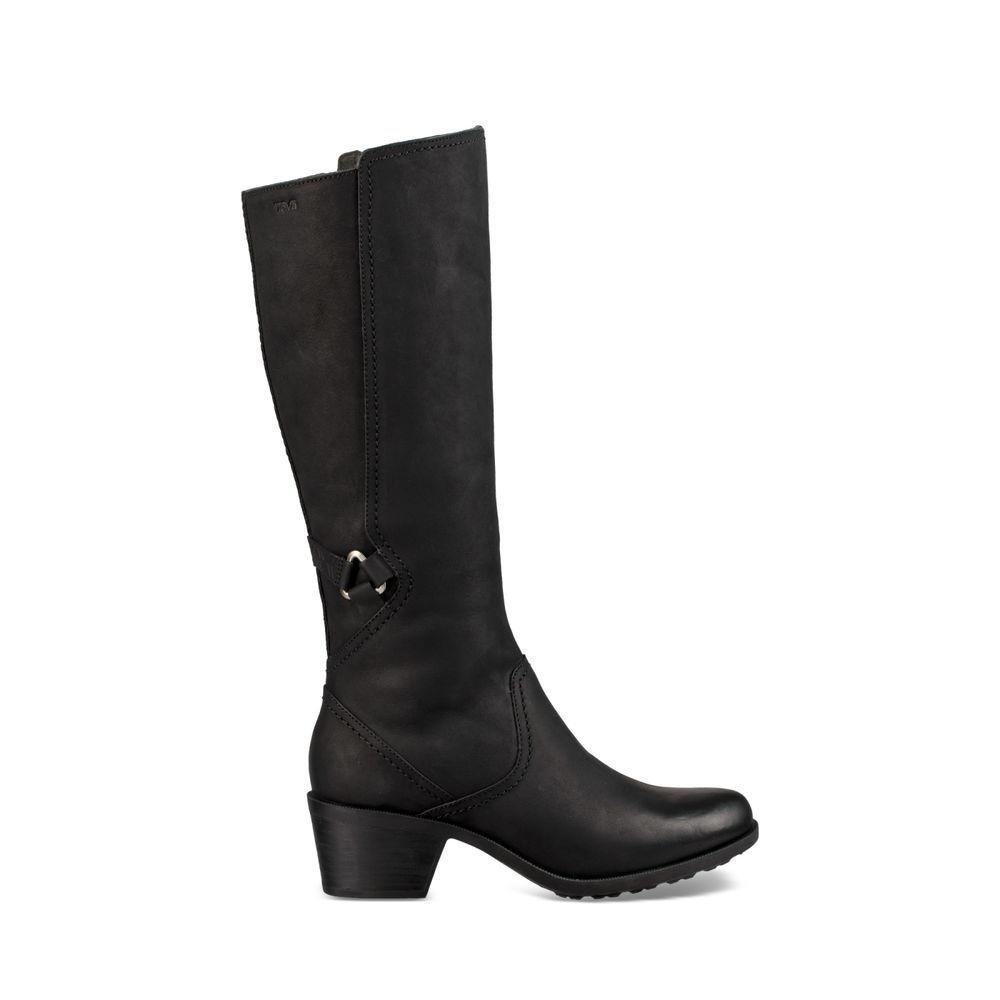 Teva Women's W Foxy Tall Waterproof Boot, Black, 8 M US