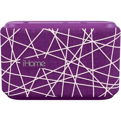 iHome Slip and Water Resistant Fabric Rechargeable Bluetooth