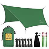 owl rain gear - Wise Owl Outfitters Rain Fly Tarp – The WiseFly by Premium 11 x 9 ft Waterproof Camping Shelter Canopy – Lightweight Easy Setup for Hammock or Tent Camp Gear - Green