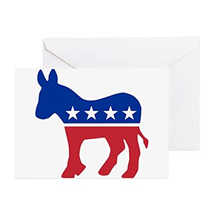 Amazon Cafepress Democrat Donkey Greeting Card Note Card