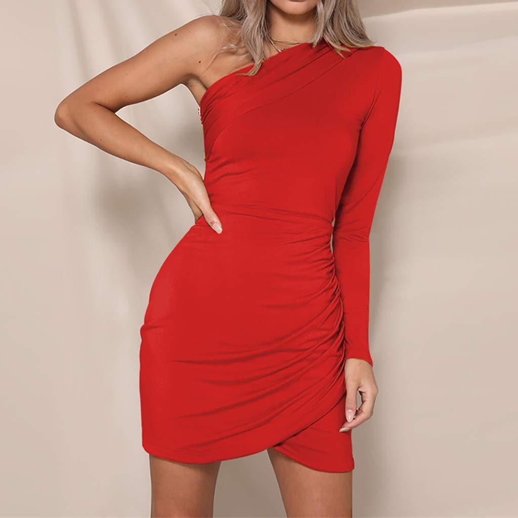 Salaks Sheath Wrap Dress for Women Spring Autumn Fashion Solid Off Shoulder Mini Dresses
