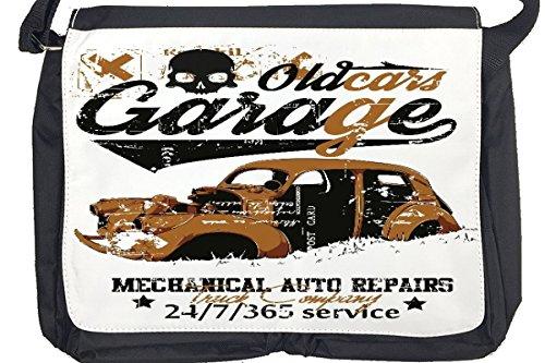 Borsa Tracolla Garage Vecchie automobili Stampato