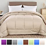 Alternative Comforter - Balichun Summer Hotel Collection 1500 Series - Luxury Duvet Insert Goose Down Alternative Quilted Comforter with Corner Tabs - Hypoallergenic, Twin/Twin XL, Beige