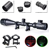 Twod Rifle Scope Tactical 6-24X50mm AOEG/3-9x40mm Optics Hunting Rifle Scope Red/Green Illuminated Crosshair Gun Scope + Covers + Free Mounts