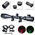 Twod Rifle Scope Tactical 6-24X50mm AOEG Optics Hunting Rifle Scope Red/Green Illuminated Crosshair