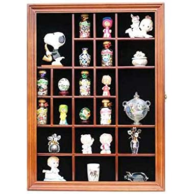 Miniature Figurine Display Case Small Wall Curio Cabinet Shadow Box, Glass Door, TC02-WA