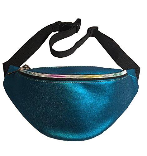 Flada - Bolso mochila para mujer blanco estilo 1 Medium azul