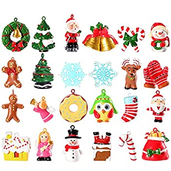 Unomor Mini Christmas Ornaments, Resin Design with Santa Clause, Snowman,  Angle and More Ornaments – Set of 24 Pieces - Amazon.com: DR.DUDU Christmas Miniature Wood Ornaments Decoration