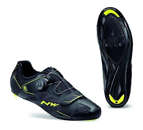 Northwave Sonic 2 Plus Rennrad Fahrrad Schuhe schwarz/gelb 2017: Größe: 42.5
