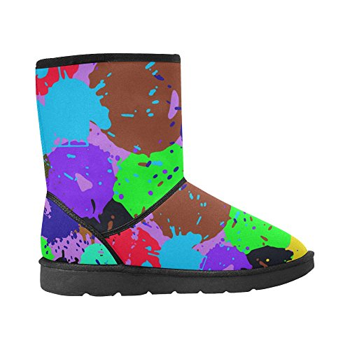 5 Tribal Classic Size Snow 12 Pattern Abstract 5 InterestPrint Doodle Womens Ladies Print Color5 Colorful Boots Starts 6qBgpzwTB