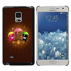 TopCaseStore / la caja del caucho duro de la cubierta de protección de la piel - Cute Icecream Friends - Samsung Galaxy Mega 5.8 9150 9152