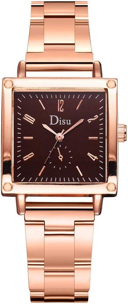 DJxqJ orologio Orologi Orologi da donna eleganti con quadrante piccolo Orologio da donna Orologio da polso in acciaio per donna Brown