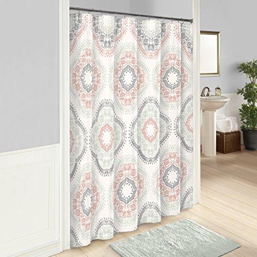 Medallion Blush (Marble Hill Sabina Shower Curtain, 72x72, Aqua)