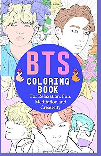 Amazon Com Bts Coloring Book For Relaxation Fun Meditation And Creativity Beautiful Stress Relieving Coloring Pages For Army And Kpop Fans I Purple U 5 5 In Rm Jimin V Jungkook Suga Jhope