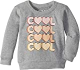 Chaser Kids Baby Girl's Extra Soft Love Knit Cool Pullover (Toddler/Little Kids) Heather Grey 5