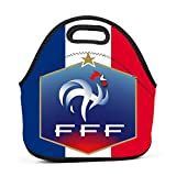 YRBZ France Soccer Waterproof Lunch Tote Bag Portable Picnic Lunch Box Food Container