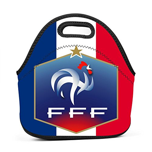 YRBZ France Soccer Waterproof Lunch Tote Bag Portable Picnic Lunch Box Food Container by YRBZ