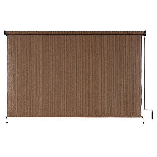 Amazon.com : Coolaroo Outdoor Cordless Roller Shade 8\' by 6\'\' Mocha ...