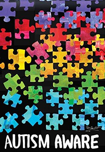 Autism Aware BreezeArt Standard House Flag 28