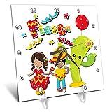 3dRose Spiritual Awakenings Ethnic Holidays - Cinco De Mayo Hispanic Holiday Fun Art - 6x6 Desk Clock (dc_294352_1)