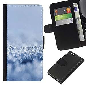 KingStore / Leather Etui en cuir / Apple Iphone 5C / Nieve fresca