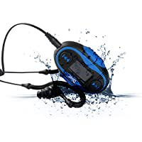 Diver 4GB Waterproof MP3 Player with LCD Display and Earphones (Blue)