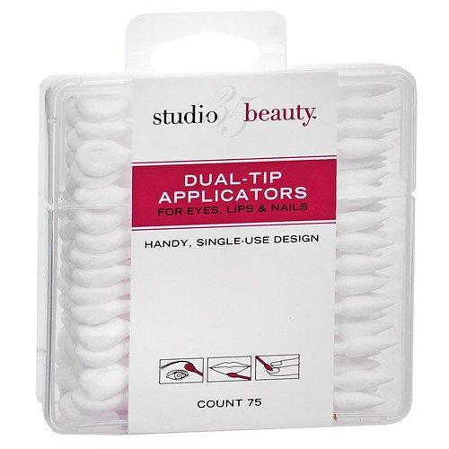 Studio 35 Dual-Tip Cosmetic Applicators 75 ea (Pack of 3)