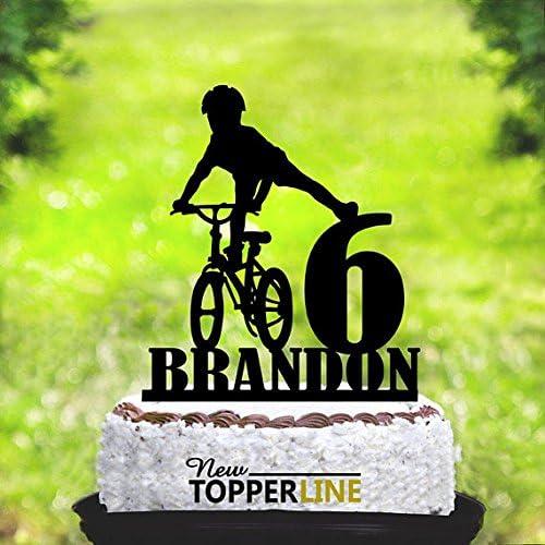Decoración para tartas de bicicleta de montaña, personalizable con ...
