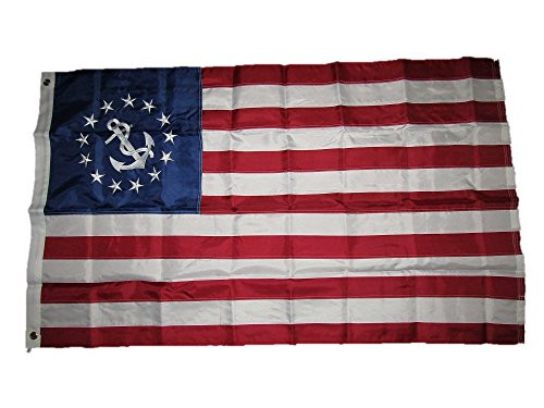 3x5 Embroidered Sewn USA Yacht Ensign 210D Solarmax Nylon Flag 3'x5'