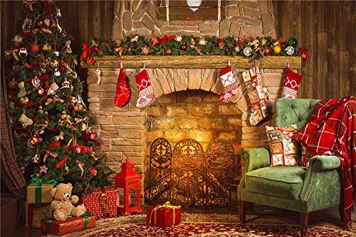 Qian 9x6ft Christmas Day Backdrops Photo Backgrounds Xmas Party -