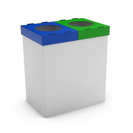poubelledirect 50L Mondo papelera reciclaje cocina con tapas ...