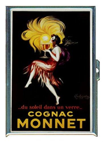 French Cognac Vintage IllustrationステンレススチールIDまたはCigarettesケース( Kingサイズまたは100 mm )   B00PGRDRF2