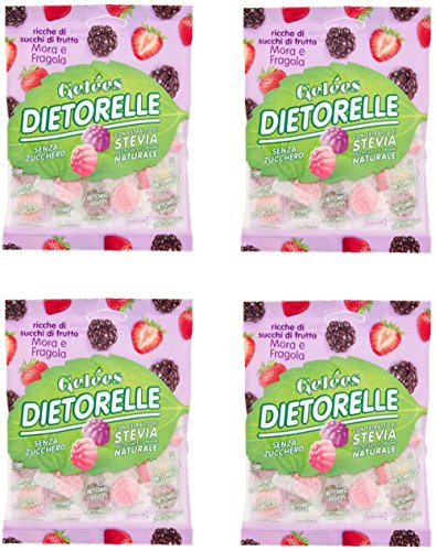 Dietorelle : Blackberry and Strawberry Pectin Jellies 70g, pack of 4